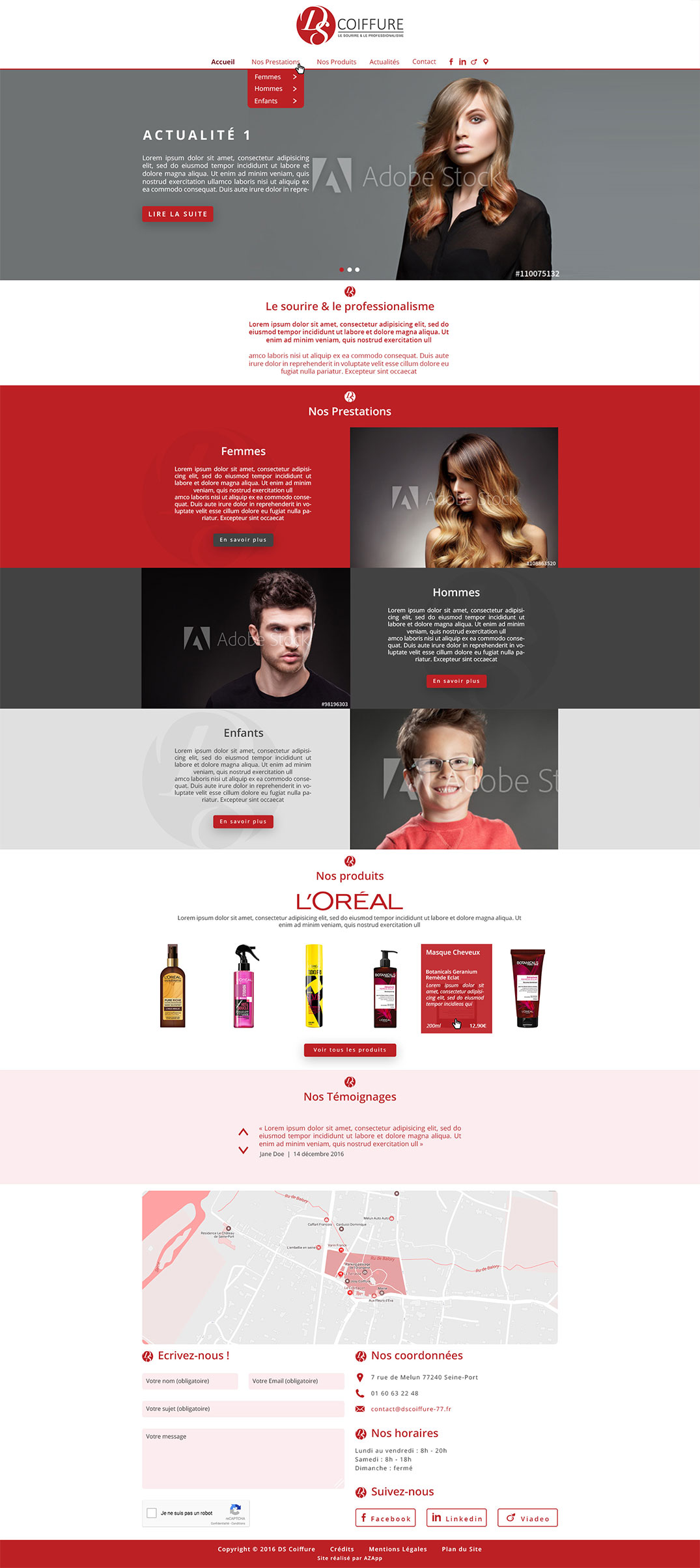 Webdesign DS Coiffure